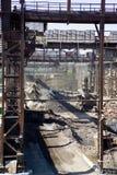 工业区在冶金学方面 免版税库存照片
