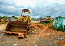 工业危机在利比里亚 埃伯拉流行病和内战的后果 库存图片