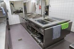 工业厨房设备的看法 库存图片