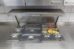 工业厨房设备的看法 库存照片