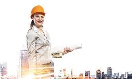 工业发展项目 混合画法 图库摄影