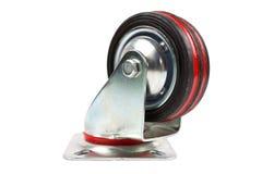 工业台车唯一转体橡胶铸工轮子 图库摄影