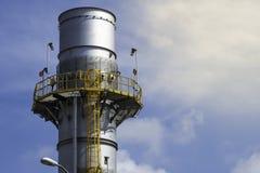 工业回复热蒸汽尾气堆 库存照片