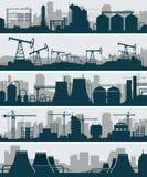 工业地平线集合 库存照片