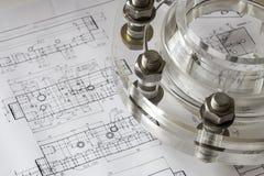 工业塑料丙烯酸酯的耳轮缘螺栓 免版税库存图片