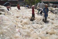 工业塑料回收废物 免版税图库摄影