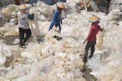 工业塑料回收废物 库存图片