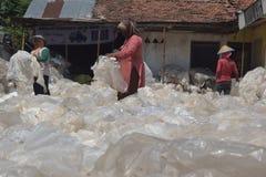 工业塑料回收废物 库存照片