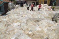 工业塑料回收废物 图库摄影