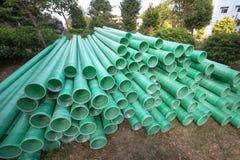 工业塑料管子 免版税库存照片