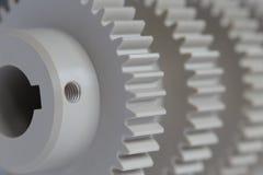 工业塑料齿轮 免版税库存图片