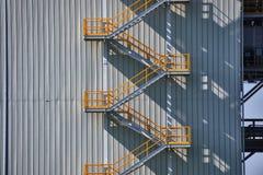 工业外部楼梯 免版税库存照片