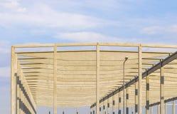 工业大厅的具体建筑设计 免版税库存图片