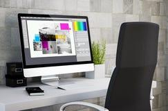 工业工作区图形设计 免版税库存图片