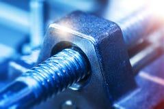工业工具零件宏观看法  图库摄影