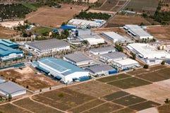 工业庄园工厂和存贮设施 库存图片