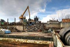工业废料回收厂 免版税库存图片