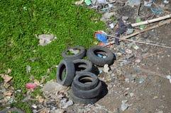 工业废料在菲律宾 免版税库存图片