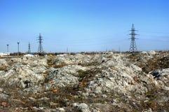 工业废料垃圾填埋  图库摄影