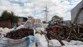 工业废料-塑料残骸堆  库存照片