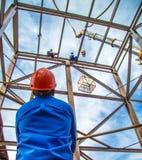 工业建筑工人框架 库存图片