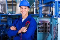 年轻工业技术员 免版税库存照片