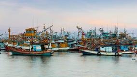 工业捕鱼在泰国 库存照片