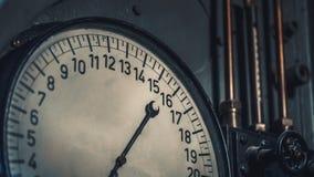 工业数字标度测量盘区 免版税库存照片