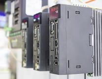 工业机器的PLC控制器 免版税图库摄影
