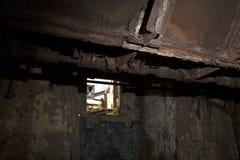 工业朽烂通过窗口 免版税图库摄影