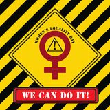 工业标志妇女平等天 库存照片