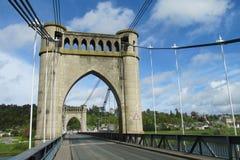 工业桥梁有支持 库存照片