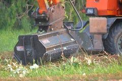 工业植被切削刀特写镜头 库存照片