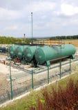工业气体抽的植物 免版税库存照片