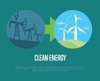 从工业污染的演变到eco能量 库存照片