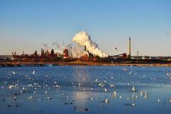 工业污染 免版税库存图片