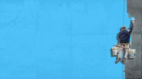 工业油漆苍白绿松石背景 免版税库存照片
