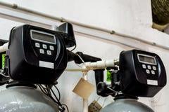 工业滤水器显示  免版税库存照片