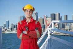 工业甲板人员 免版税库存照片