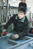工业电弧焊接工作者 库存图片
