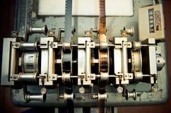 工业电影岗位PR的电影音频录影影片同步装置 库存图片