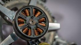 工业电磁体线圈绕组发电器 库存图片