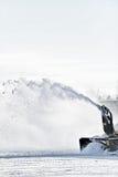 工业积雪的清除机器 免版税库存照片