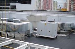 工业空调、透气和refrigent系统 图库摄影