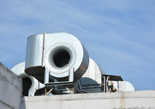 工业空调和通风系统 通风系统 免版税库存照片