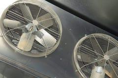 工业空调器爱好者 免版税库存图片