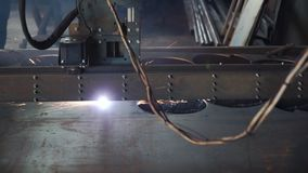 工业等离子机床切削金属片 夹子 切口板材等离子cnc mc 切割工行业激光 股票录像