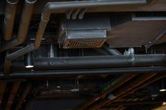 工业背景,空调管 库存图片