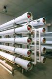 工业膜设备的设施 免版税库存图片
