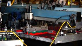 工业自动化的丝绸掩护机器 股票录像